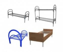 Кровати металлические для времянок, кровати для общежитий, кровати металлические для санаториев, оптом