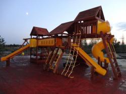 Детские игровые площадки для улицы (древесина, фанера, пластик, металл)